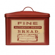 Premier Housewares Whitby Bread Bin Storage - Red