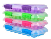 "Sistema ""KLIP IT"" Accents Ice Cube Tray with Lid, Plastic, Multi-Colour"