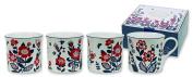 Heath McCabe Princess Nordic Beaker Fine Bone China Mugs, Pack of 4