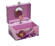 Joy Toy 118105 - Mia and Me Jewellery Box with Musical Clock and Rotating Butterfly 15 x 10.5 x 8.5 cm