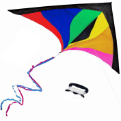 Anpro Colourful Kite for Kids and Adults - Huge Size and Best Easy Flyer, Huge colourful kite with 60m/60m Flying Line