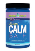 Natural Vitality Natural Calm Magnesium Bath Minerals, with Organic Lavender, 590ml