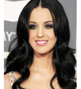 kylie Jenner synthetic lace front wig with heat resistant fibre for women black body wave long hair