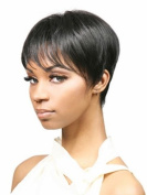 UPTOP Hair ® Cut Trendy Straight Side Bang Black Short Heat Resistant Synthetic Women's Wig
