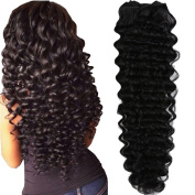 MY-LADY®Grade 7A Brazilian Virgin Deep Wave Hair Weft 100g/pc Natural Colour 36cm - 60cm