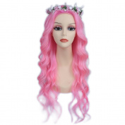 7A 150 Density Pink Wave Human Hair Lace Front Wigs Brazilian Human Hair Wigs Full Lace Wigs For Women