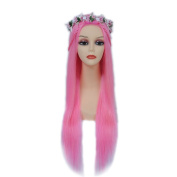 7A 150 Density Pink Straight Human Hair Lace Front Wigs Brazilian Human Hair Wigs Full Lace Wigs For Black Women
