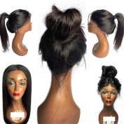 Human Hair Wigs For For African American Women Brazilian Silk Straight Hair Lace Front Wigs With Baby Hair Middle Part Long Bob Glueless Lace Wigs