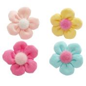 RareLove Baby Girls Cute Daisy Flower Pink Yellow Rose Red Light Blue Hair Ties 4 PCS
