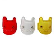 RareLove Cute Cats Three Colours Hair Mini Clips For Toddler 3 PCS