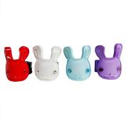 RareLove Cute Rabbits Four Colours Hair Mini Clips For Toddler 4 PCS