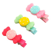 RareLove Baby Girls Cute Three Candy Bow Hair Clips For Toddler 3 PCS