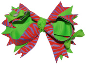 Chicky Chicky Bling Bling Girls Dainty Triple Bow Bling Hair Bow neon
