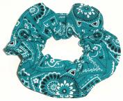 Bandana Print Cotton Fabric Hair Scrunchie Handmade by Scrunchies by Sherry
