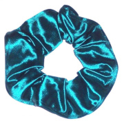 Teal Green Spandex Hair Scrunchie Handmade by Scrunchies by Sherry