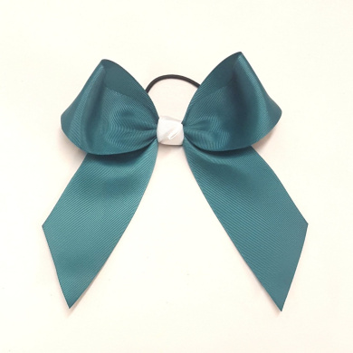 Large Hair Bow, Teal, Made in the USA, 5.1cm grosgrain ribbon