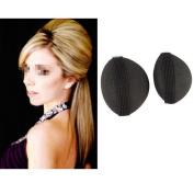 Ewandastore 1Pair Bump It Up Volume Hair Base Styling Insert Tool Do Beehive Hair Styler Women Hair Styling Clip Stick Bun Maker Braid Tool Hair Accessories, Black