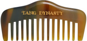 TANG DYNASTY® No Static 100% Handmade Natural Wide Pocket Ox Horn Comb With Gift Box 047
