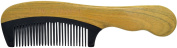 TANG DYNASTY® No Static 100% Handmade Natural Sandalwood Black Ox Horn Comb With Gift Box 029