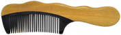 TANG DYNASTY® No Static 100% Handmade Natural Sandalwood Black Ox Horn Comb With Gift Box 018