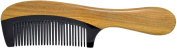 TANG DYNASTY® No Static 100% Handmade Natural Sandalwood Black Ox Horn Comb With Gift Box 015