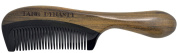 TANG DYNASTY® No Static 100% Handmade Natural Sandalwood Black Ox Horn Comb With Gift Box 013