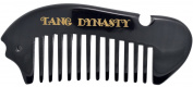 TANG DYNASTY® No Static 100% Handmade Natural Fish Width Black Ox Horn Comb With Gift Box 012