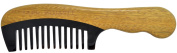 TANG DYNASTY® No Static 100% Handmade Natural Sandalwood Black Ox Horn Comb With Gift Box 011