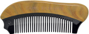 TANG DYNASTY® No Static 100% Handmade Natural Sandalwood Black Ox Horn Comb With Gift Box 008