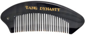 TANG DYNASTY® No Static 100% Handmade Natural Fine Black Ox Horn Comb With Gift Box 004