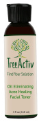 TreeActiv Acne Healing Facial Toner - For Removing Toxin Build Up, Tightening Pores and Keeping Skin Acne Free and Clear Even on the Most Stressful of Days!