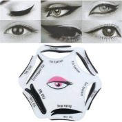 1Pc 6 In 1 Beauty Cat Eyeliner Stencil Smoky Eye Models Template Shaper Makeup Tool