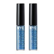 (2 Pack) N.Y.C. New York Colour Sparkle Eye Dust, Brilliant Sapphire, 5ml