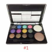 Sungpunet 14colors Makeup Powder Set Shimmer Glitter EyeShadow Palette