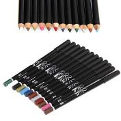 12 Colour Waterproof Eye Shadow Eyeliner Lip Liner Pencil Pen Cosmetic Makeup Set