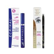 Ecrinal ANP2 Mascara and Heliabrine Long Wear Eye Pencil (Black) Set