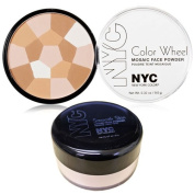 New York Colour Wheel Mosaic Face Powder, Translucent Highlighter Glow and Smooth Skin Loose Face Powder Translucent Makeup Set