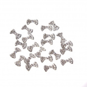 GBSTORE 20 Pcs Special Charming 3D Nail Art Designs Nail Art Bow Tie Alloy Rhinestones DIY Decoration