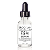 EGF 3X SUPER SERUM By Brooklyn Beauty Lab- Face Serum For Skin Rejuvenation- Anti-Wrinkle Formula With Organic Oils- Boosts Collagen Production- Anti Ageing, Moisturising & Repairing Serum- 30ml