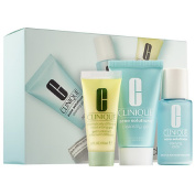 Clinique 3-Step Kit Travel Size - Acne Solutios Cleansing Gel, Lotion, Dramatically Moisturising Gel