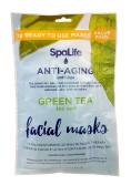 SpaLife Anti-Ageing Green Tea Facial Masks - 10 Pack