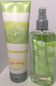 "GILLY HICKS BONDI BEACH CLUB ""SEA YOU STARING"" HAIR AND BODY MIST/SPLASH 240ml AND,SEE YOU STARING AFTER SUN LOTION"