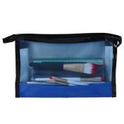 Hatop 1PC Translucent PVC Makeup Bag Wire Side Storage Bag