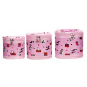 Hatop 3PCS Cylinder Cosmetic Bag Travel Bags Makeup Bag