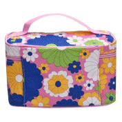 Hatop Square Sunflower Cosmetic Bag Travel Bags Makeup Bag