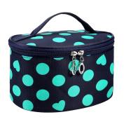 Hatop Women Dot Series Waterproof Makeup Bag Travel Toiletry Kits Portable Package Cosmetic Bag