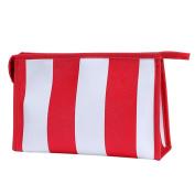 Hatop Fashionable Portable Stripe Cosmetic Bag Travel Toiletry Bag Organiser ...