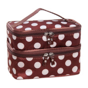 Hatop Double Layer Cosmetic Bag Travel Toiletry Makeup Bag