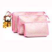 AutumnFall® 3pcs Woman Cosmetic Bags Large Volume Makeup Bag