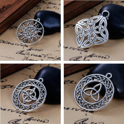 Celtic Knot Charms, 20 pc (5 of Each) Silver Tone Pendants